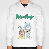 Hoodies featuring Rick and Morty by DeBUM