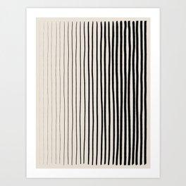 Black Vertical Lines Art Print