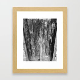 OLD CABIN DOOR Framed Art Print