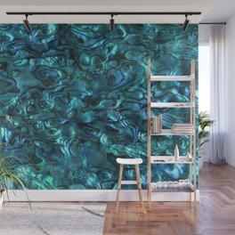 Abalone Shell | Paua Shell | Sea Shells | Patterns in Nature | Cyan Blue Tint | Wall Mural