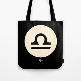 Libra Symbol Black Tote Bag