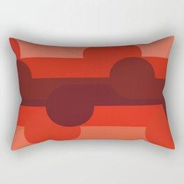 Red Savana Rectangular Pillow
