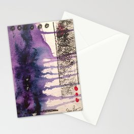 Purple Rain, original artwork by Stacey Brown Stationery Cards