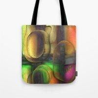 random Tote Bags featuring Random by John Hansen