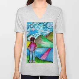 The Road From Childhood Unisex V-Neck