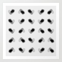 Lots of Hearts - Black and White Art Print