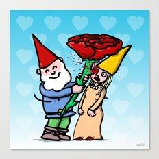 Gnome Love Canvas Print