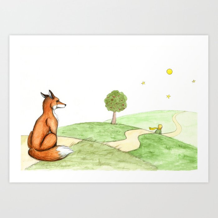 The Little Prince And The Fox Art Print By Savousepate Society6