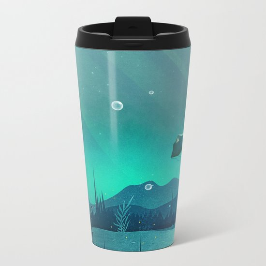 Beneath Barafundle Metal Travel Mug