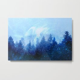 The forest awakens from the mist Metal Print