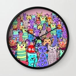 Cat world Wall Clock