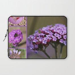 Purple Violet Pink Flowers Collage Laptop Sleeve
