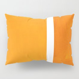 Antique Yellow  & Yellow Ochre Mid Century Modern Abstract Minimalist Rothko Color Field Squares Pillow Sham
