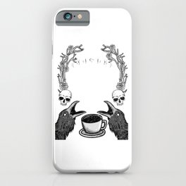 Dead but Caffeinated - Funny Witchcraft Coffee iPhone Case
