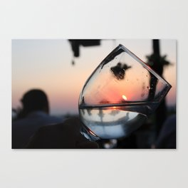 Sunset in a glass Canvas Print