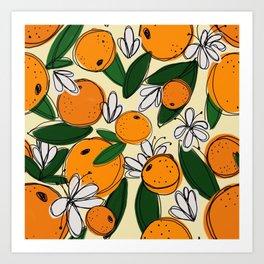 Oranges in Bloom Art Print