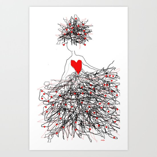 Madly in love Art Print