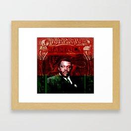 Marcus Garvey Black Nationalist Design Merchandise Framed Art Print