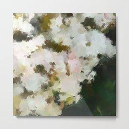White Fluffy Flowers Metal Print
