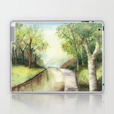 Trees by the canal Laptop & iPad Skin
