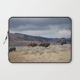 Bison in Yellowstone National Park Laptop Sleeve