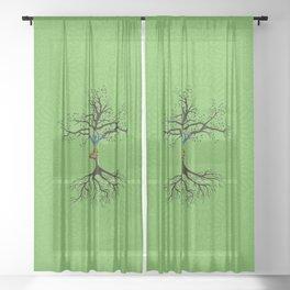 Vriksasana Sheer Curtain