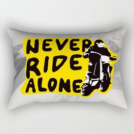 Never Ride Alone I Rectangular Pillow
