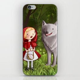 Red riding hood meets the wolf iPhone Skin