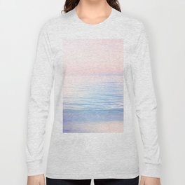 Dreamy Pastel Seascape 2. Blue & Nude #pastelvibes #Society6 Long Sleeve T-shirt