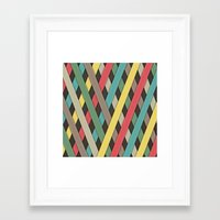 striped Framed Art Prints featuring Striped by General Design Studio