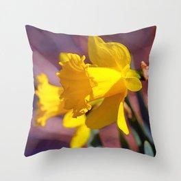 Daffodil Focus Throw Pillow
