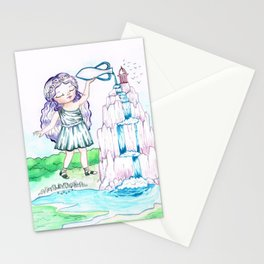 Waterfall goddess Stationery Cards