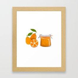 I Love Kumquats Framed Art Print