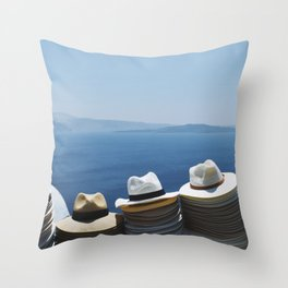 Hats made in Santorini Throw Pillow