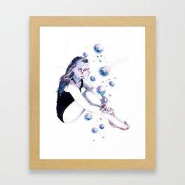 Little universes. Framed Art Print