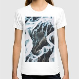 Aerial of an abstract River in Iceland T-shirt