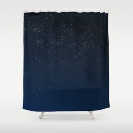 Stars in Space Shower Curtain