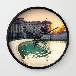 Buckingham Palace Sunset Wall Clock