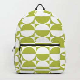 Mid Century Modern Half Circles Pattern Chartreuse Backpack