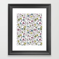 Black Border Florals Framed Art Print