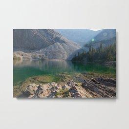Window Mtn Lake Metal Print