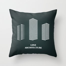 i love architecture Throw Pillow