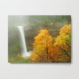 Waterfall into Fall Metal Print