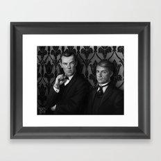 Holmes & Watson -- BBC meets Granada Framed Art Print