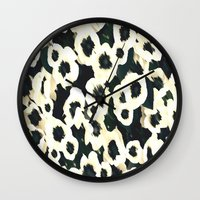 mercedes Wall Clocks featuring MAGNOLIA DREAMS by Chrisb Marquez