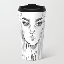 Lupine Love (black&white) Travel Mug