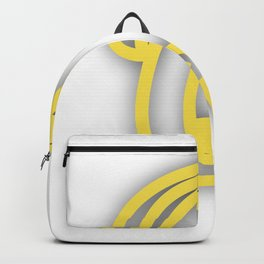 Letter Q in Yellow Backpack