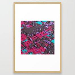 Tiny Cities Framed Art Print