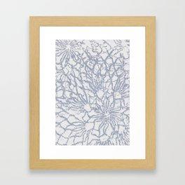 lace print Framed Art Print