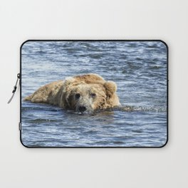 Brown Bear Cooling Off Laptop Sleeve